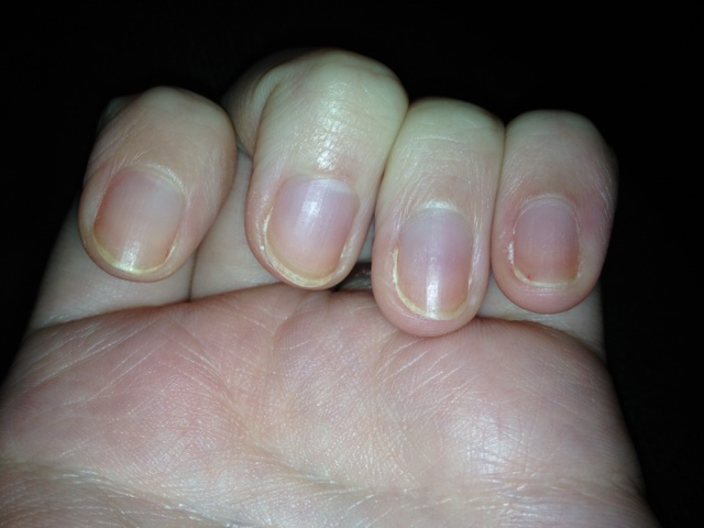 This Week\'s Nails – Blue Sparkles | hannahhotcakes