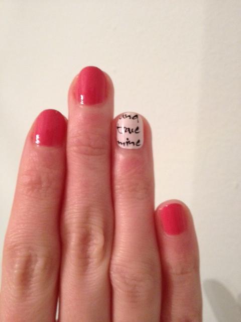 This Week\'s Nails – Essie Calligraphy Nail Wraps | hannahhotcakes