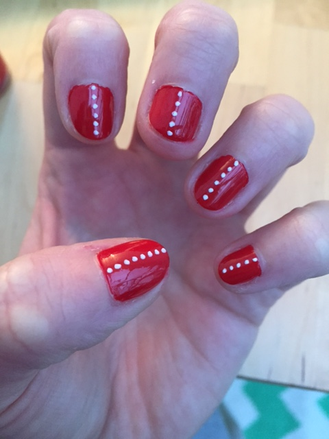 This weeks nails red spots hannahhotcakes a good layer of seche vite next and this subtle nail art look was complete it actually lasted for over a week without chipping so i can see myself using prinsesfo Image collections